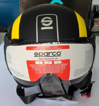 Casco sparco  momo design demi jet nero giallo xl
